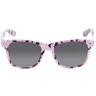 View Item Purple Snake Print Wayfarer Sunglasses